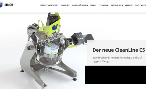 Design für Eirich: CleanLine C5