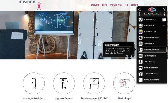 barrierefreies webseite imsinne